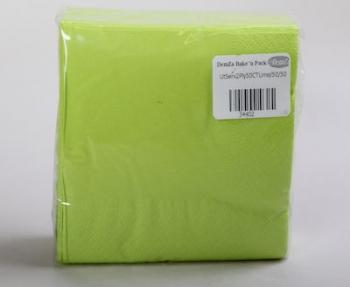 Lime 2 Ply Serviette (50)