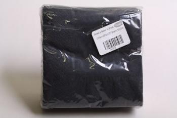 Black 2 Ply Serviette (50)