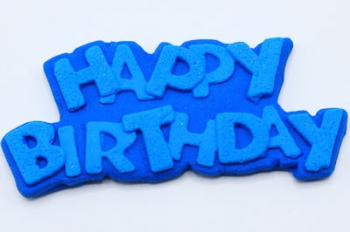 Royal Blue Happy Birthday Icing