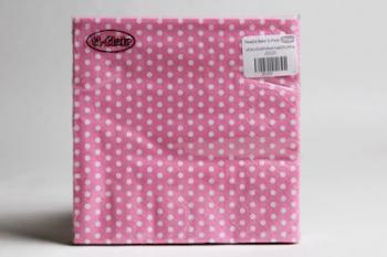 Light Pink Small 3 Ply Polka dot Serviette (20)