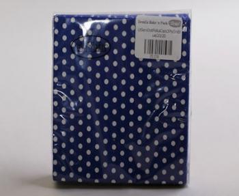 Dark Blue 3 Ply Polka Dot Cocktail Serviette (20)
