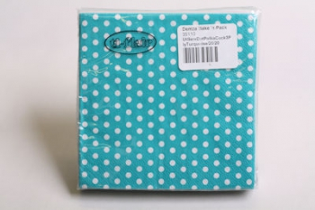 Turquoise 3 Ply Polka Dot Cocktail Serviette (20)