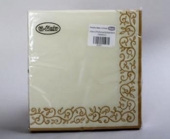 White Gold Romantic 3 Ply Serviette (20)