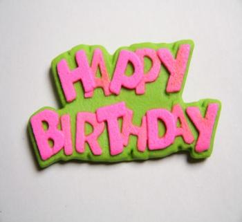 Cerise Lime Kappy Birthday Icing