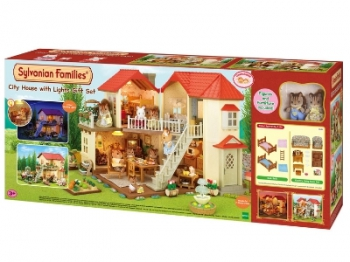 Sylvanian Family City House With Lights Gift Set