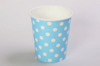 Dot Blue Paper Cup (10)