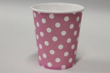 Dot light Pink Paper Cup (10)