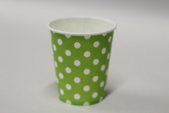 Dot Lime Paper Cup (10)