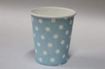 Dot Light Blue Paper Cup (10)