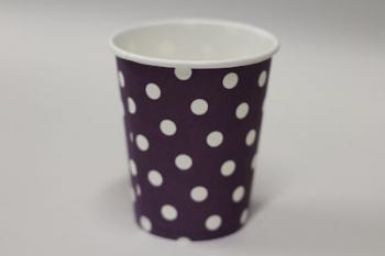 Dot Purple Paper Cup (10)