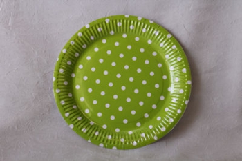 Dot Lime Paper Plate (10)
