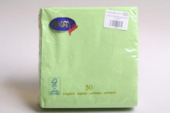 Apple Green Plain 2 Ply Serviette (50)