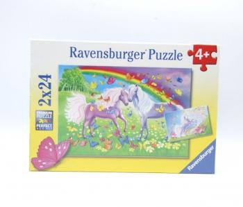 Ravensburger Puzzles  2x24Pce Rainbow Horses