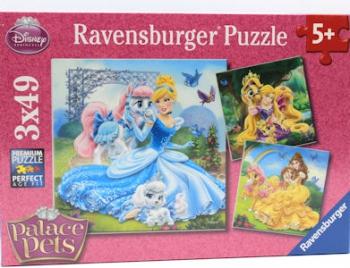 Ravensburger Puzzles 3x49Pce Belle Cinder Rapunzel