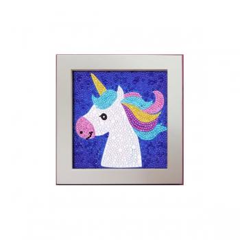 Diamond Dot Painting Shiny Unicorn 18x18cm