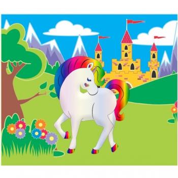 Diamond Dot Painting Rainbow Unicorn 21x25cm