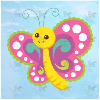 Diamond Dot Painting Sylvia Butterfly 19x19cm
