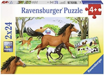 Ravensburger Puzzles  2x24Pce World Of Horses