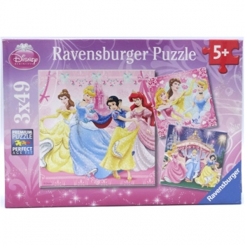 Ravensburger Puzzles  3x49Pce Snow White