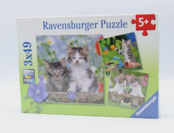 Ravensburger Puzzles  3x49Pce Tiger Kittens