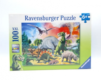 Ravensburger Puzzles 100Pce Among The Dinosaurs