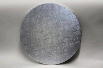 305 mm Round Silver Cake Board (10)
