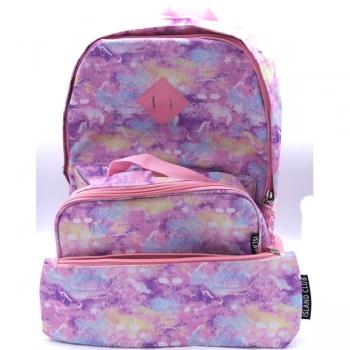Island Club School Bag Set - Pink Unicorn