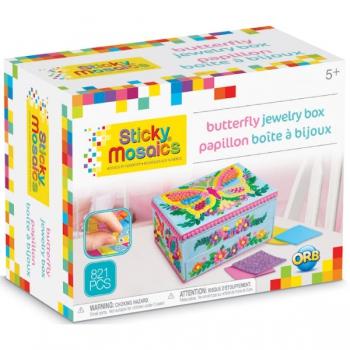 Sticky Mosaics Butterfly Jewelry Box