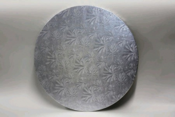 406 mm Round Silver Cake Board (10)