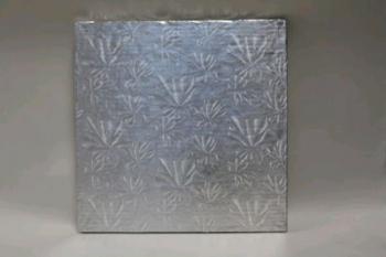 457 mm Square Silver Cake Board