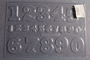 Numbers Chocolate Mould