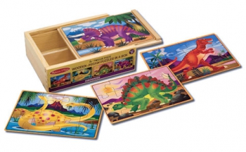 Melissa & Doug Dinosaurs 4 Puzzle in a Box