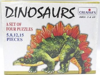 Creatives Dinosaurs Puzzle 4-1