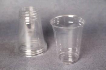 10 oz Transparent Plastic Cup (10)
