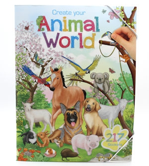 Top Model Animal World Colouring Book