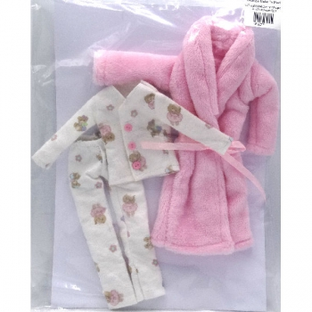 Doll Clothing Pajamas and Pink Gown