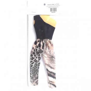 Doll Clothing Denim Top Scarf Hat Handbag