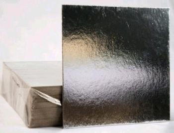 178 mm Silver Square Thin Cake Board (40)