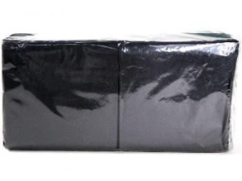 Black Plain Serviette (1 Ply 200 pce)
