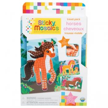 Sticky Mosaics Travel Pack Horses