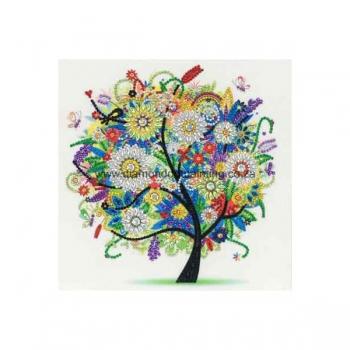 Diamond Dot Painting 25x25 Sparkly Summer Tree