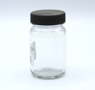 125 ml Ointment Glass Jar with black lid