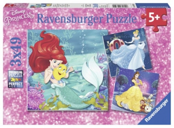 Ravensburger Puzzles 3x49Pce Princess Adventure