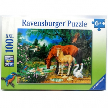 Ravensburger Puzzles 100Pce Ponies at the Pond