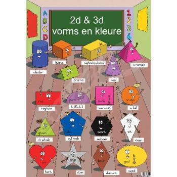 Suczezz Posters Afrikaans Vorms&Kleure 2D&3D