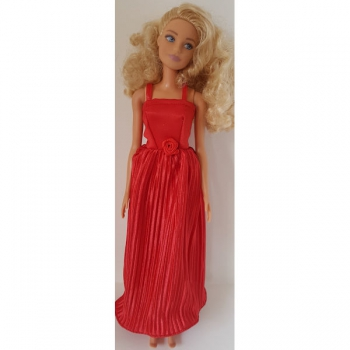 Doll Clothing Long Evening Dress Red