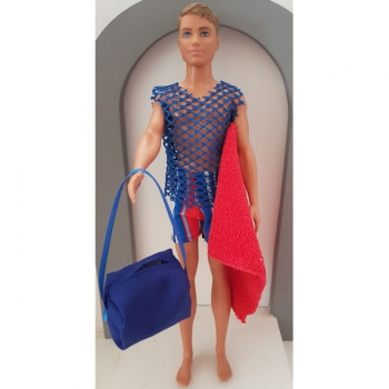 Doll Clothing Male Swimsuit set