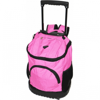 Trolley School Bags Large Round Base Pink