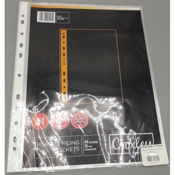 Croxley 10 A4 Filing Pocket 50 Micron