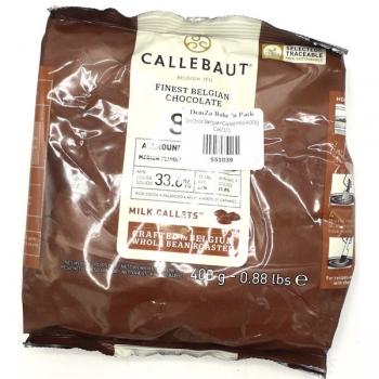 Callebaut 33.8% Milk Chocolate Callets 400g
